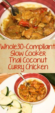 Whole30 Thai Curry Coconut Chicken - 30 Days of Whole30 Recipes -Our family is…