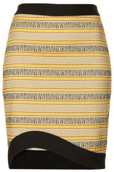 Curve Hem Animal Pencil Skirt - New In This Week  - New In