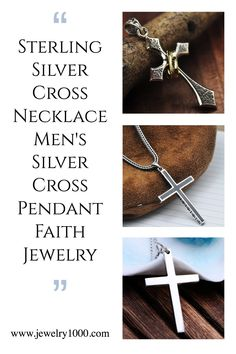 Uniquely designed cross pendant necklaces made of solid 925 sterling silver. If you are looking for a special item for Valentine's Day, please take a look at our jewelry collections. It is the right place to find beautiful faith jewelry for both men and women. #Jewelry1000 #sterlingsilverjewelry #menssilverjewelry #silvercross #crossnecklace #giftforhim #valentinesdaygift