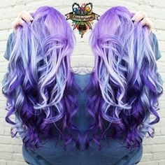 Purple violet ombre hair