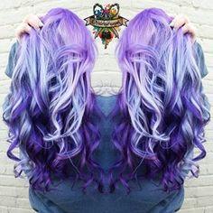 Purple violet ombre hair