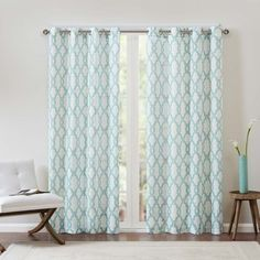 Shop for Madison Park Grant Textured Fretwork Printed Curtain Panel . Free Shipping on orders over $45 at Overstock.com - Your Online Home Decor Outlet Store! Get 5% in rewards with Club O!