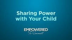 Sharing Power with Your Child by Tapestry. In this brief video, Dr. Karyn Purvis talks about the benefits of parents sharing appropriate amounts of power with their children through choice giving, compromises and other means. Through sharing power appropriately with their children, parents can teach them to communicate effectively about their needs and fears, rather than resorting to behaviors, and can help them develop a strong foundation that will serve them well as they grow older.