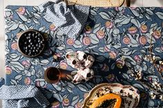 """""""Careers and businesses are like a games of Snakes and Ladders,"""" says Sophie Tatlow of Utopia Goods . """"They go up and dow. Design Repeats, Furniture Upholstery, Surface Pattern Design, Repeating Patterns, Soft Furnishings, Linen Fabric, Indigo, Print Patterns, Weaving"""