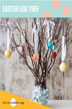 Add a little life to your Easter centerpiece and build your own Easter Egg Tree. Easter Tree, Easter Eggs, Easter Centerpiece, Centerpieces, Incredible Eggs, Egg Tree, Egg Decorating, Build Your Own, Easter Crafts