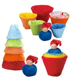 Kathe Kruse® Fabric Stacking Cups - this just gave me a great idea for a gift for baby this holiday... :)