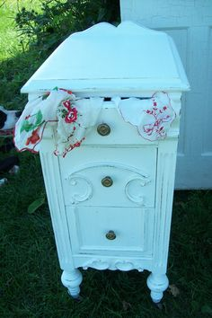 Pair of matching nightstands now residing in Burnt Hills, NY.