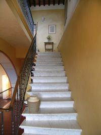 on my way up to my room for an afternoon nap at the Villa Aquilea Lucca, Tuscany, Italy