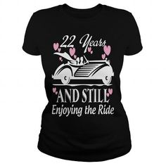 Cool Anniversary Gift 22 years Wedding Marriage T-Shirts