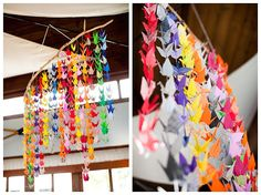 Wedding Origami cranes. Pic by @chloebrowne at Caught the Light.