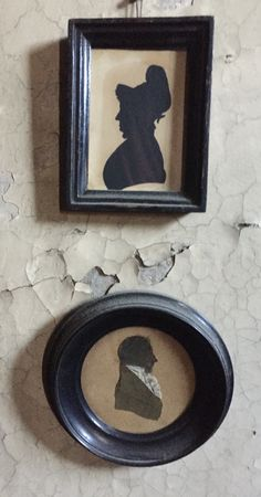 pair of silhouettes in the attic at denis sever's house in shoredutch Georgian Homes, Museums, Attic, Art Museum, Art History, Silhouettes, 19th Century, 18th, Houses