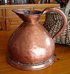 Antique 1-Gallon Copper Measure  Victorian English Jug c.1860