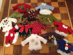 Ugly Christmas Sweater ornament by OlsenTrademarkCrafts on Etsy