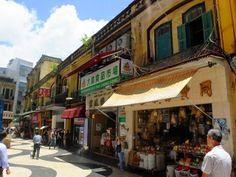 Unterwegs in der portugiesischen Altstadt von Macau