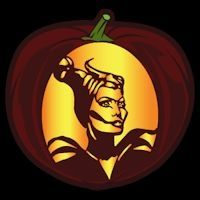 Maleficent CO - Stoneykins Pumpkin Carving Patterns and Stencils