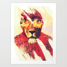 Lion Zion Art Print by zumzzet - $14.00