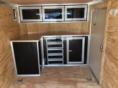 race trailer cabinets | work | pinterest | enclosed trailers