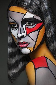 Artísta pinta rosto de mulheres que se parecem com criações 2D  