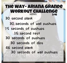 Ariana grande workout                                                                                                                                                                                 More