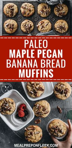 Paleo Maple Pecan Banana Bread Muffins Meal Prep on Fleek™ - Paleo Rules Paleo Meal Prep, Easy Meal Prep, Easy Meals, Keto Meal, Paleo Diet, Food Prep, Vegan Breakfast Recipes, Lunch Recipes, Healthy Dinner Recipes