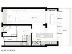 luxe aanbouw met architect - het ontwerp van een aanbouw - VOORBEELD VOOR PLATTEGROND