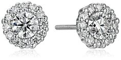 White Gold Diamond Solitaire Halo Stud Earrings K-L Color, Clarity) Diamond Jewelry, Silver Jewelry, Fine Jewelry, Perfect Christmas Gifts, Diamond Are A Girls Best Friend, White Gold Diamonds, Women's Earrings, Belly Button Rings, Halo