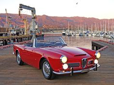 Evocative shot of an Alfa Romeo 2600 Spider, which you can almost hear rusting just from being near saltwater. Custom Vespa, Best Gas Mileage, Alfa Romeo Spider, Alfa Romeo Cars, Cabriolet, Classic Italian, Fast Cars, Cars Motorcycles, Cars For Sale