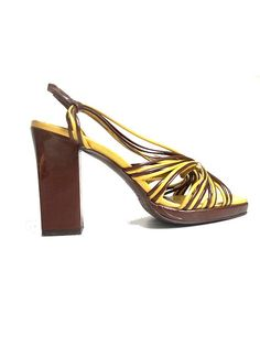 7 french 90s shoes MAUD FRIZON PARIS   yellow and by lesclodettes, $119.00