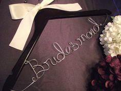 SALE Personalized Wedding Hanger/ Brides by elegantbridalhangers, $12.99