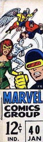 Marvel corner box art - the original X-Men