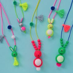 The Easter Bunny just got more awesome # - bunny necklace craft idea