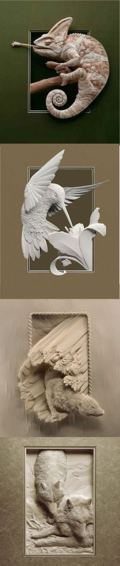 Calvin Nicholl's Bas Relief from paper. A wonderful type of sculpture executed… Paperclay, Wildlife Art, Architecture Details, Paper Art, Wordpress, Sculptures, Walls, Carving, Ceramics