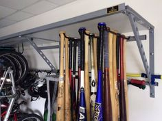 Bat Rack Garage Baseball Equipment Softball Bats