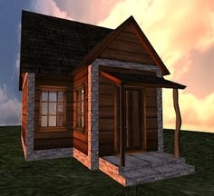 """If you're looking for a new home, be sure to check out """"The Kananaskis Cottage"""" by Not Too Shanty.    Specifics:  13.5 x 9.5m (Fits a 512 plot)  69 prims  Copy/Mod/No Trans  $200L  #secondlife #sl"""