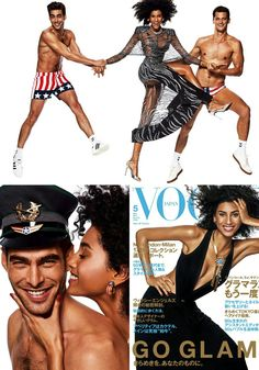 #ImaanHammam, #JonKortajarena, and #GarrettNeff in the new issue of #VOGUEJapan! • • • • • #ImaanHammam, #JonKortajarena e #GarrettNeff na nova edição da #VOGUE Japão!