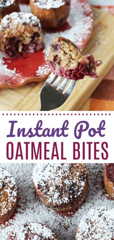 Breakfast has never been easier than these kid-friendly Instant Pot Oatmeal Bites. They are the perfect addition to your mornings. We love to meal-prep them ahead of time on Sunday morning for the entire week. #InstantPot #kidfriendly #oatmeal #easyrecipes #breakfast #pressurecooking...