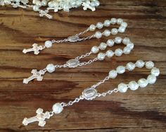 100 PC  Baptism favors ivory silver plated/ by WEDDINGLASSOS, $60.00