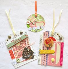 Embellished Tags Scrapbooking Tags Shabby by ArtistsCornerShop, $8.50