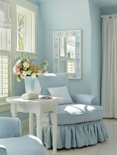 peaceful blue and white: