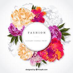 Cartão floral elegante Vetor grátis
