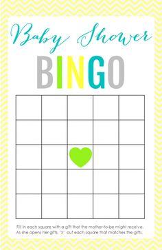 Free Printable Baby Shower Bingo Cards | Baby Shower Bingo, Babies And Baby  Shower Games