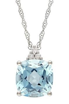 Beautiful sterling silver/blue topaz necklace