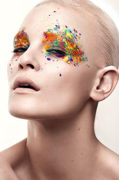 Makeup Inspo, Makeup Art, Makeup Inspiration, Makeup Meme, Colour Inspiration, Make Up Designs, Extreme Makeup, High Fashion Makeup, Beauty Make-up