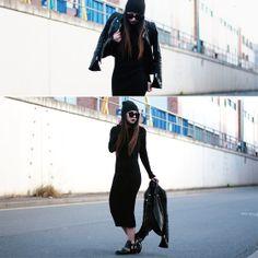 Zara Jacket, Zara Knit Dress, Zara Boots