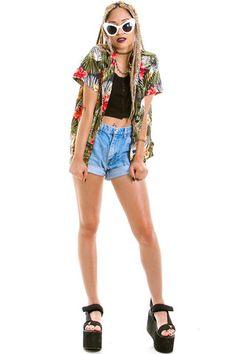 Vintage 90's Take Me Away Hawaiian Shirt - XS/S/M