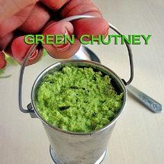 GREEN CHUTNEY FOR IDLI/DOSA by chitra