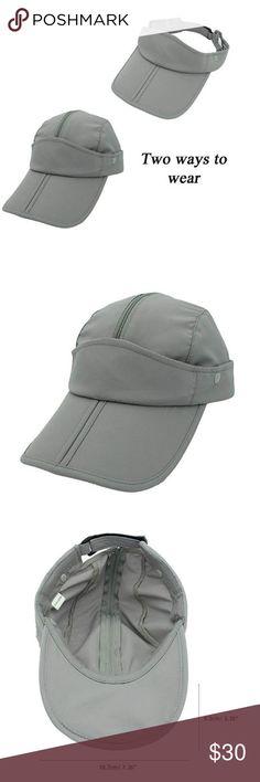 Women s Sun Visor Hat Large Wide Brim UV Pro. Cap Button closure Material   Made c9fe8c15244