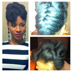 My NYE hairstyle. Blow out, twist and pin with a basket weave braid. -terrabe11a  Follow and submit your photo BeauTIFFul Curls to be featured with some of the most beautiful naturals on Tumblr.