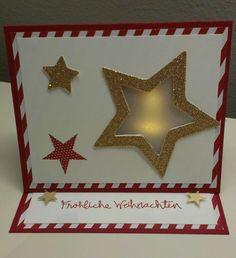 Lichterkarte Weihnachten, Ligther-Card, Candle Card Christmas, Stampin' Up!, Gesammelte Grüße, Simply Stars.