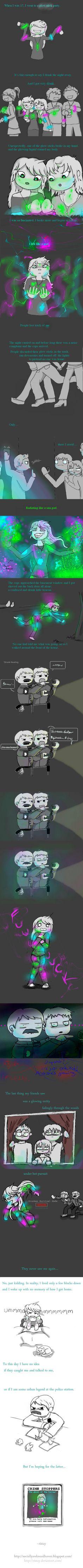 2 spooky: Glowstick Ghost. WARNING- LONG